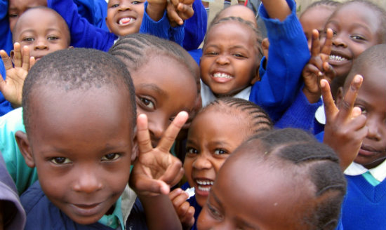 Kenyan children smiling